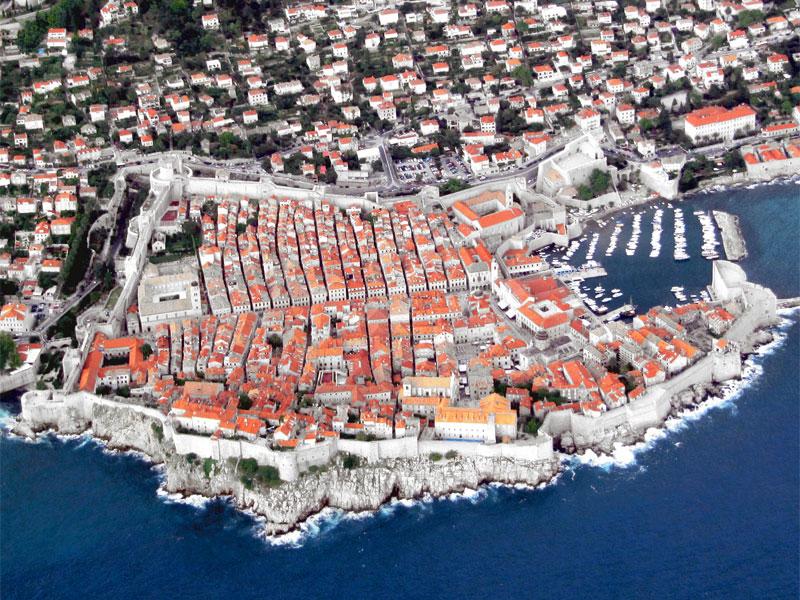 Исторический квартал Дубровника с высоты птичьего полета