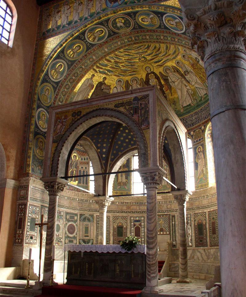 Главная ценность Евфразиевой базилики - византийские мозаики VI века